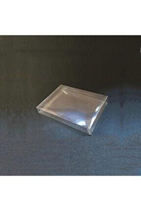 Beyaz Şeffaf Asetat Kutu 10.5x14.5x2 cm