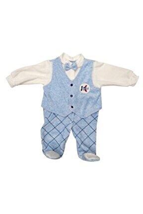 Erkek  Bebek Mavi Tulum