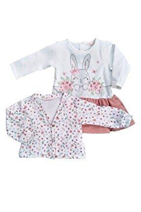 Kız Çocuk Pamuklu Hırkalı Elbise