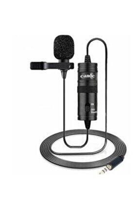 Acrtech Bilişim Profesyonel Yaka Mikrofonu 6 Metre Kablo- Bilgisayar Cep Telefonu Tablet Youtuber