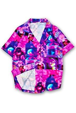 Purple Error Gömlek