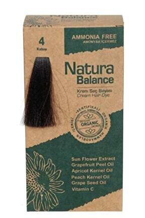 Natura Balance - Organik Krem Saç Boyası 4 Kahve 60ml