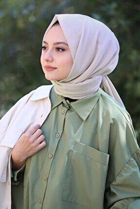 Kadın Bej Cotton Pamuk Şal Ck01