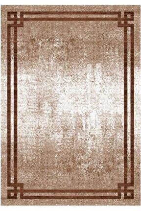 Gloria Td71705 Kahverengi Art Deco Modern Desen Dokuma Saçaklı Kilim