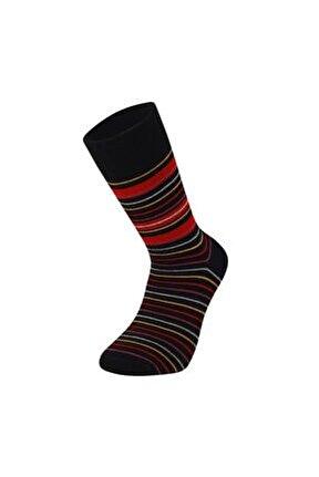 Erkek Renkli Yünlü Çorap Çizgili