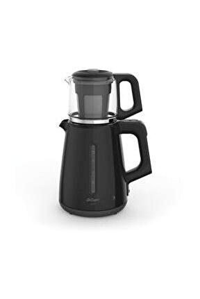 AR3061 Çaycı 1700 Watt Cam Demlik Çay Makinesi - Siyah