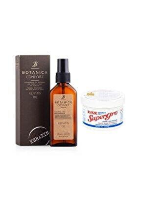 Botanıca Comfort Yıpranmş Saçlar Için Keratin Yağı 100 Ml + Supergro Saç Bakım Yağı 198 G