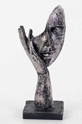 Duymadım Figürlü Mask Biblo (lame) 11x7,5x25 cm