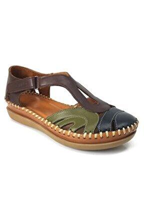 18793502 Günlük Kadın Sandalet Kahverengi
