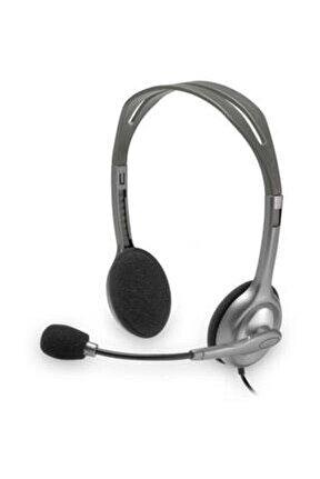 H110 Stereo Kulaküstü Gri Kulaklık 981-000271