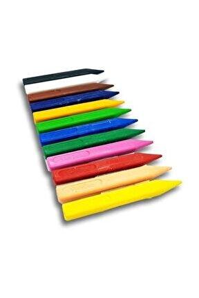 Extra Jumbo Mum Boya 12 Renk Üçgen Gövde 12 mm