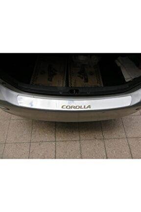 Toyota Corolla Formlu Krom Arka Tampon Üstü Koruma Eşiği 2010-2013 ( Yazılı )