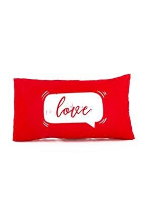 Sevgiliye Hediye Love Mesajlı Hediye Yastık - Baskılı Yazılı Dekoratif Kırlent