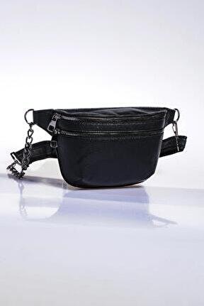Kadın Siyah Bel Çantası sg662-natural siyah