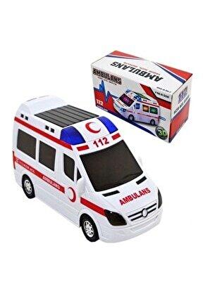 Oyuncak Ambulans Pilli Sesli Işıklı Ambulans 112 Acil