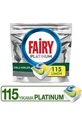 Platinum 115 Bulaşık Makinesi Deterjanı Kapsülü Limon Koku