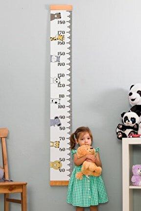 Çocuklara Doğum Günü Hediyesi Boy Ölçme Cetveli - Asılabilir Boy Ölçer - Duvar Bebek Boy Ölçer