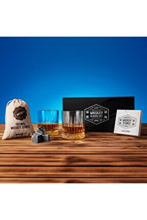 Premium Kutulu Glasgow 2'li Viski Bardak Kadeh Seti - Viski Bardağı