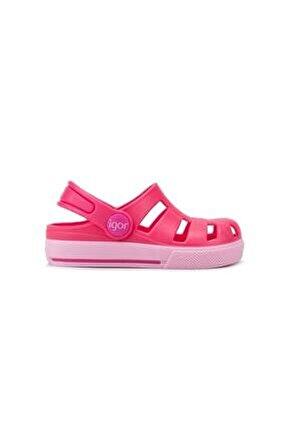 S10284-007 Unisex Çocuk Ola Combı Fuscia Rosa Sandalet