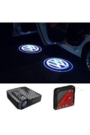 Volkswagen Kapı Altı Logo Lamba Pilli Sensörlü Kolay Montaj