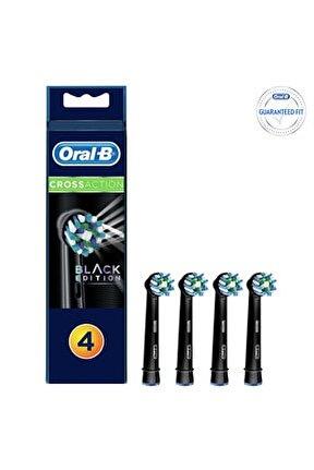 Diş Fırçası Yedek Başlığı Cross Action Siyah 4 Adet