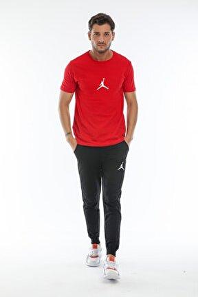 Kırmızı Basketball Eşofman Takımı Siyah