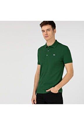 Erkek Slim Fit Yeşil Polo