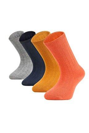 4'lü Dizaltı Çocuk Çorabı