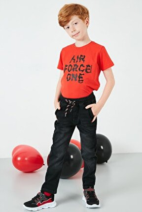 Belden Bağlamalı Cepli Pamuklu  Unisex Çocuk Pantolon 6082021