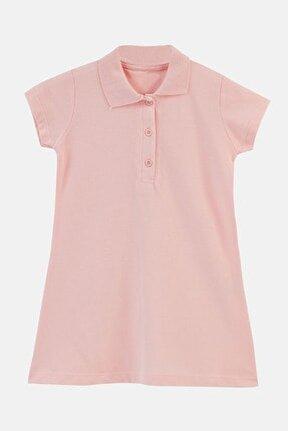 Düğmeli Polo Yaka Pamuklu Elbise Unisex Çocuk Elbise 6032424