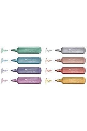 Fosforlu Kalem Seti Metalik 8 Li