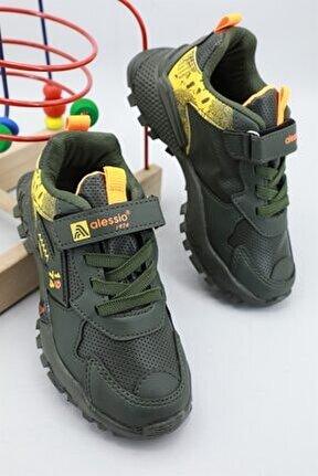 Günlük Rahat Haki Sarı Çocuk Spor Ayakkabı 2303