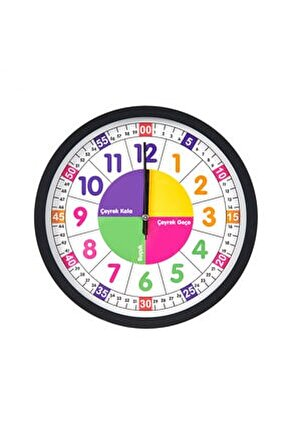 Öğretici Çocuk Odası Saati 30 Cm