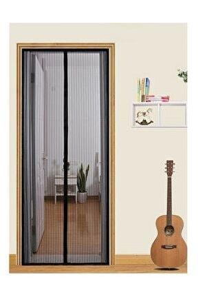 Mıknatıslı Kapı Sinekliği Sineklik Tülü Perde Sinek Kovucu Siyah ( 105x205cm )
