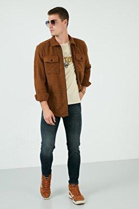 Pamuklu Normal Bel Slim Fit Dar Paça Jeans Erkek Kot Pantolon 1007h265napolı