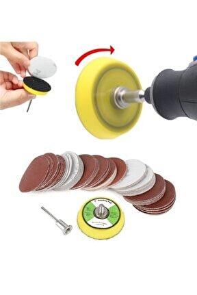 Gravür Makinası Için Mini Cırt Taban Ve 60 Adet Zımpara Seti