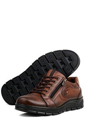 66 Hakiki Deri Kaymaz Taban Kışlık Erkek Ayakkabı