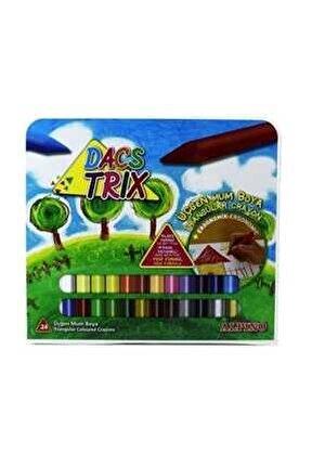 Mum Boya Üçgen 24 Renk Plastik Çantalı