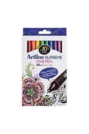Supreme Fine Pen 0.4 Mm Keçe Uçlu Kalem 10 Renk Set