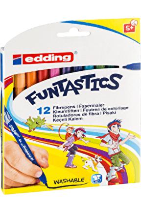 15 Funtastics Ince Keçeli Kalem 12 Renk