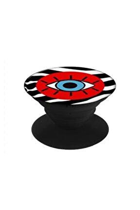 - Kırmızı Zebra Desen Göz Popsocket