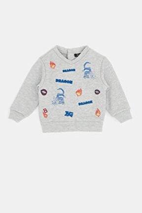 Erkek Bebek Gri Melanj Sweatshirt 20fw0bg1423