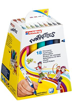 14 Funtastics Kalın Uçlu Keçeli Kalem 18 Renk