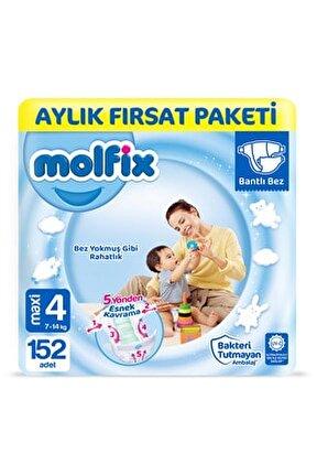 Bebek Bezi 4 Beden Maxi Aylık Fırsat Paketi 152 Adet