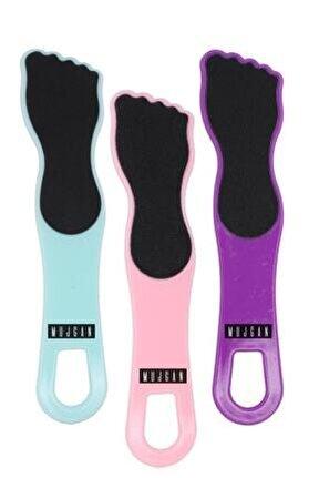 3'lü Ayak Bakım Seti Ayak Törpüsü Siyah Taban Mor Pembe Mavi Renk