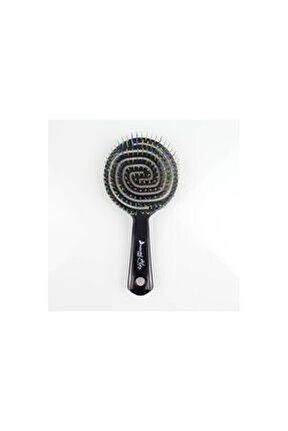 Pro Üç Boyutlu Oval Saç Fırçası-05 Siyah
