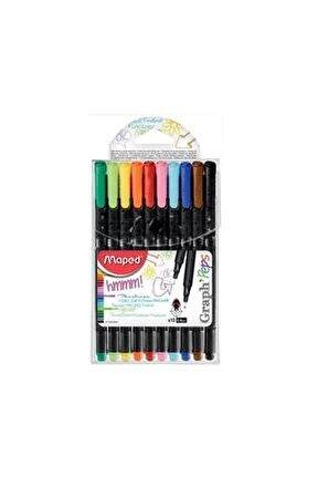 10 Renk Graphpeps Keçeli Kalem Seti 749150