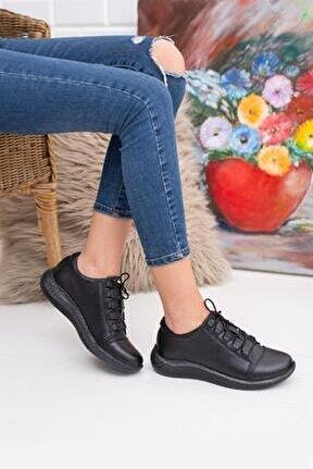 Hakiki Deri Günlük Kullanım Kadın Ayakkabı