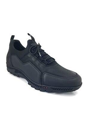 10312 Günlük Erkek Ayakkabı-siyah Nubuk
