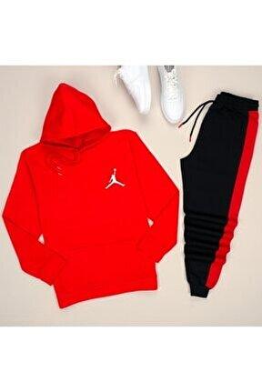 Kırmızı Jordan Esh Yankırmızı Eşofman Takımı